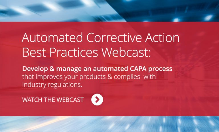 Corrective and Preventive Action (CAPA) Plan Webcast