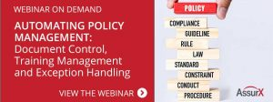 AssurX Policy and Procedure Management Webinar