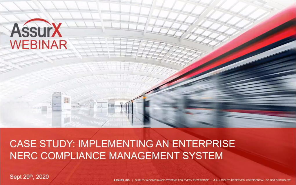 Learn about Implementing an Enterprise NERC Compliance Management System